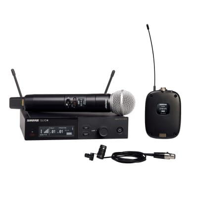 Shure SLXD124/85 Single-Channel Digital Wireless Combo System with SM58 and WL185, G58 Frequency
