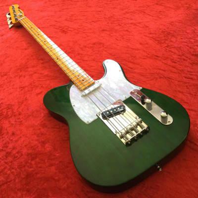 Martyn Scott Instruments Short Scale T Bass Conversion in Dark Green for sale