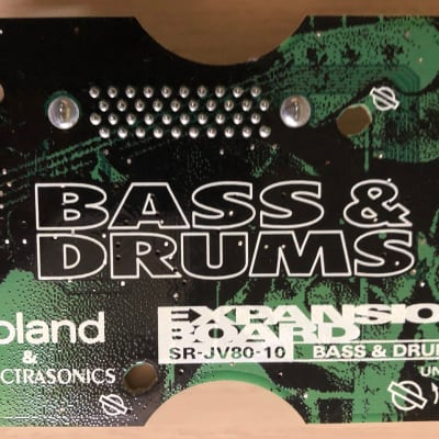 "ROLAND SR-JV80-10 ""BASS & DRUMS"" Expansion Board for Roland JV - JD - XP - XV Series"