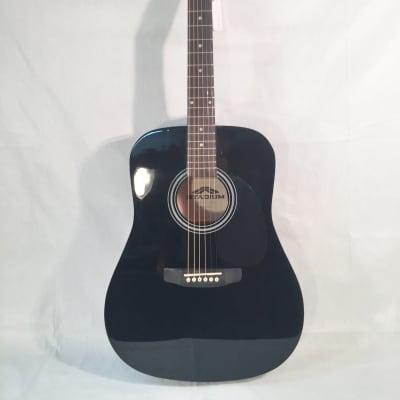 Stadium Dreadnought Style Acoustic Guitar-Black-Model ST-D-42B-w/Setup!