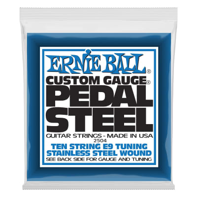 Ernie Ball Pedal Steel 10-String E9 Tuning Stainless Steel Wound Electric Guitar Strings