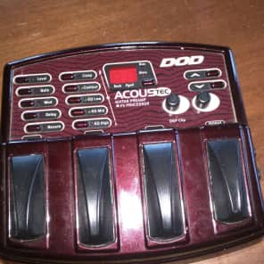 DOD Acoustec Acoustic Guitar Preamp Fx Processor for sale