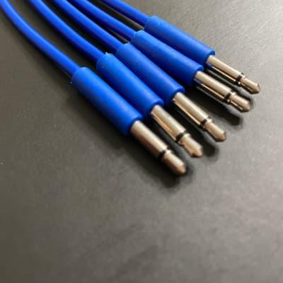 Eurorack Patch Cable 6 inch (5pcs) Blue