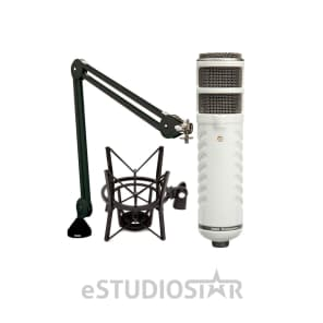 RODE Podcaster Booming Kit with Shockmount and Boom Arm