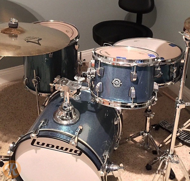 ludwig questlove breakbeats kit 16 10 13 14 2010s azure reverb. Black Bedroom Furniture Sets. Home Design Ideas