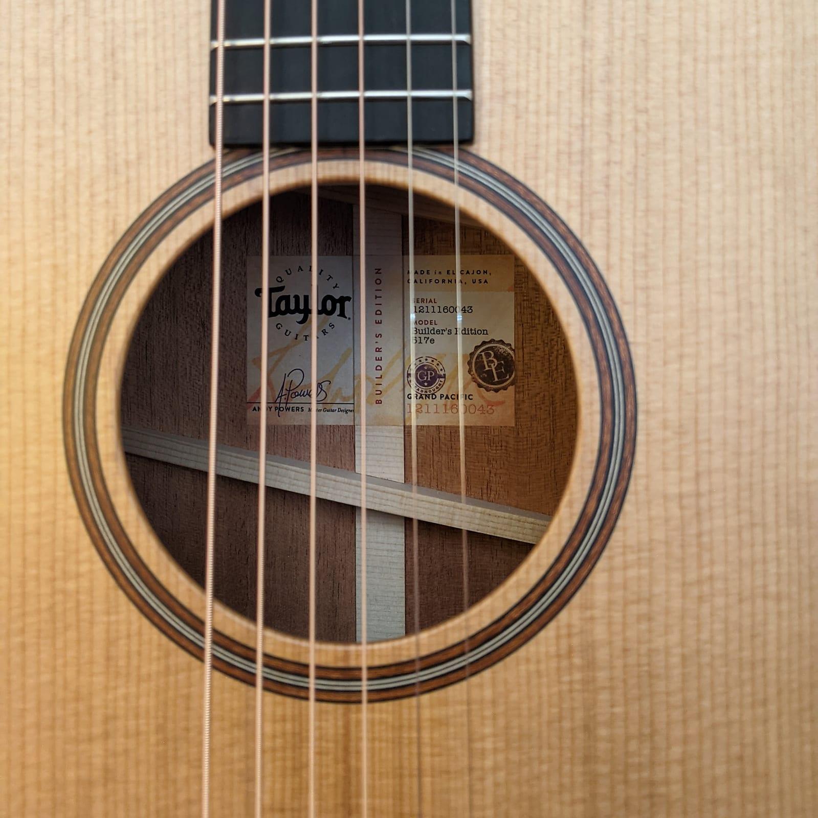 Taylor Builder's Edition 517e Acoustic Electric Guitar Natural