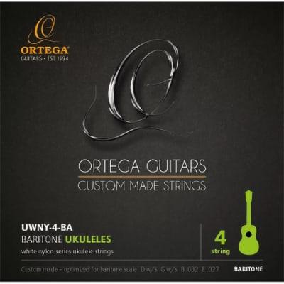Ortega Guitars Ukulele String Set - Baritone, White Nylon Series (UWNY-4-BA)