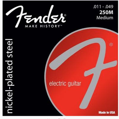 Fender Super 250's Nickel-Plated Electric Guitar Steel Strings