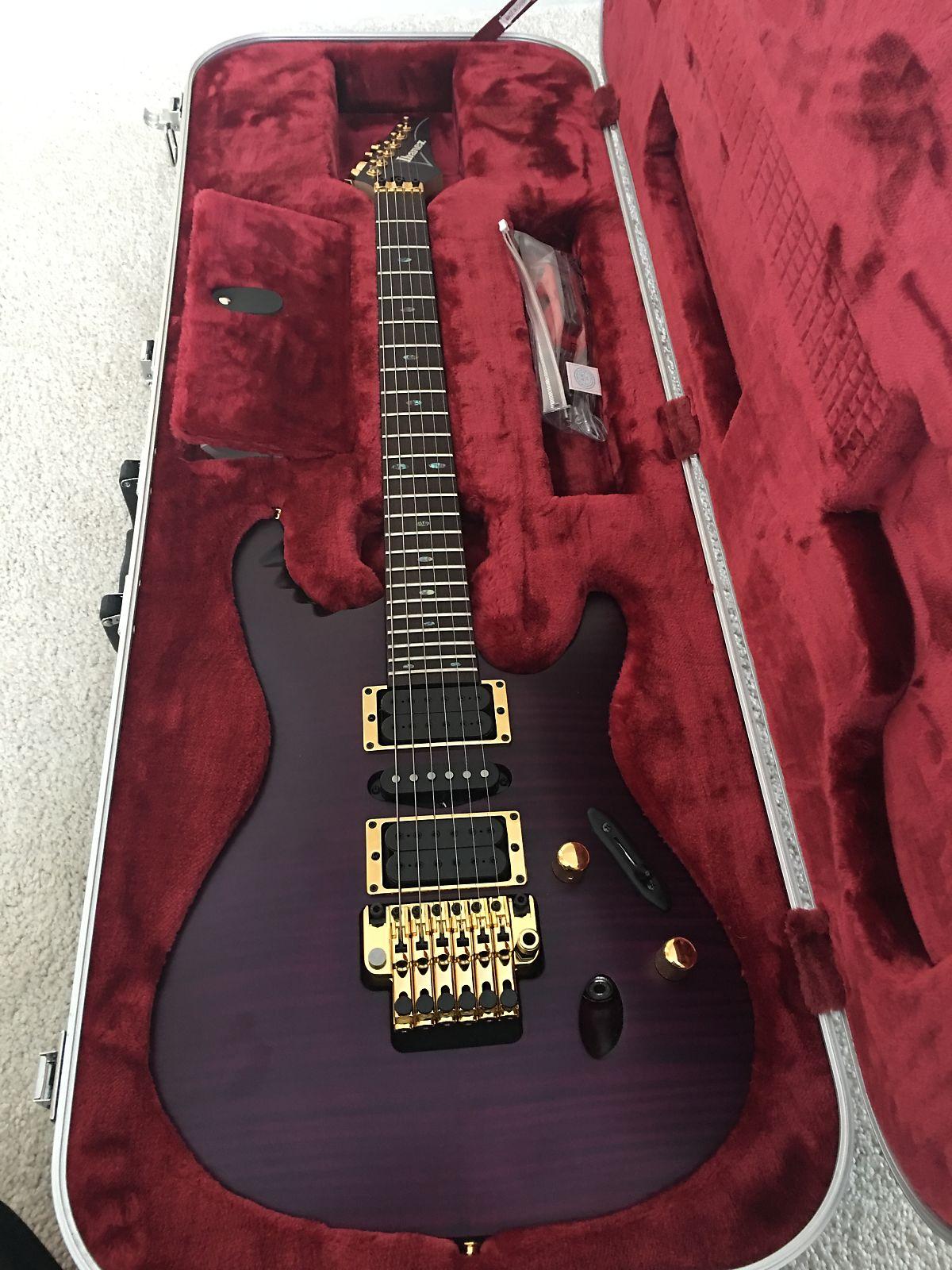 Ibanez EGEN18-TVF Herman Li Signature Series Electric Guitar Transparent on