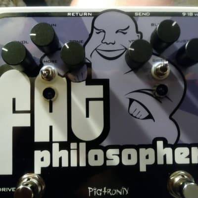 Pigtronix Rare FAT Philosopher Comp/OD combo wFX/Loop Free Shipping!