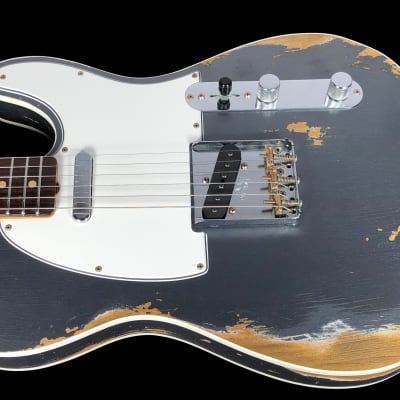 2019 Fender Telecaster 1960 Custom Shop Heavy Relic 60 Tele ~ Charcoal Frost Metallic for sale