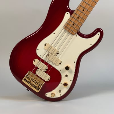 Fender Precision Bass Gold Elite II 1984 Trans Red for sale