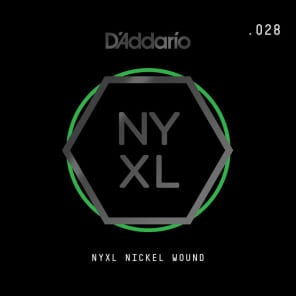 D'Addario NYXL Nickel Wound Electric Guitar Single String .028