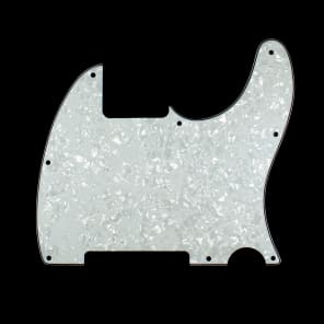 Replacement Tele Esquire Style Guitar pickguard ,4Ply White Pearloid