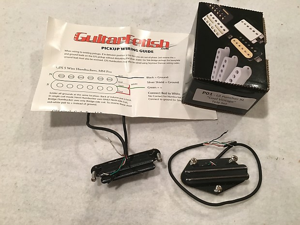 gfs lil puncher xl telecaster hot rail pickups - cool ... gfs lil puncher wiring diagrams gfs tele wiring diagrams #2