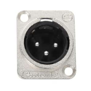 Seetronic J3F2C 3-Pin XLR Male Panel Mount Connector