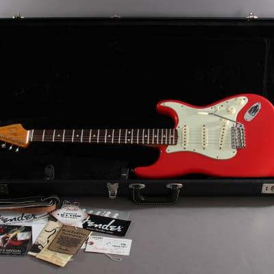 2012 Fender Artist Series Mark Knopfler Stratocaster Hot Rod Red for sale
