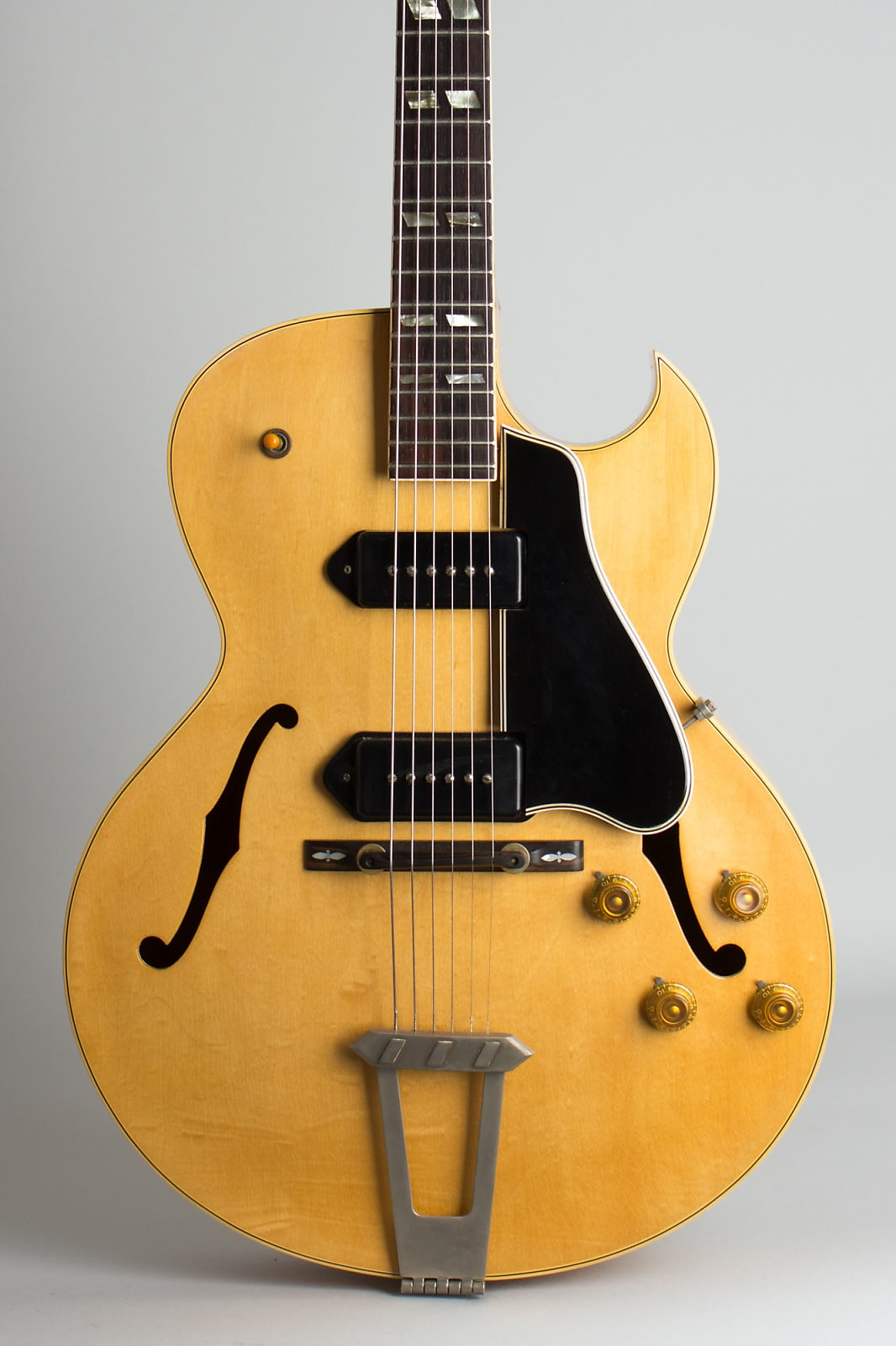 Gibson  ES-175DN Arch Top Hollow Body Electric Guitar (1956), ser. #A-23210, black tolex hard shell case.