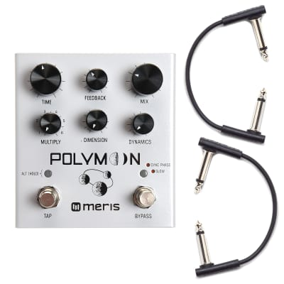 Meris Polymoon Super-Modulated Delay Pedal w/RockBoard Flat Patch Cables Bundle