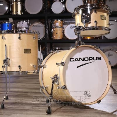 Canopus Neo Vintage M1 3pc Jazz Drum Set Natural Oil
