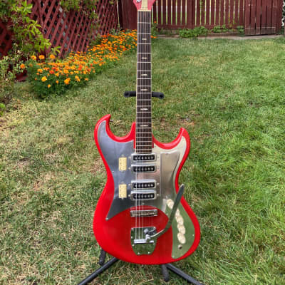 Kawai SD4W 1960's Red Vintage Rare 4-Pickup Surf Guitar for sale