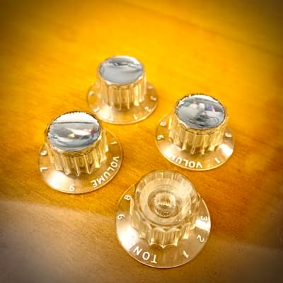 Guild  Volume & tone knobs set 1958 Clear original vintage USA