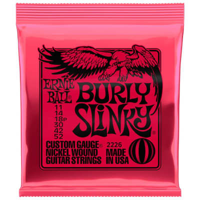 Ernie Ball Burly Slinky 11-52 Electric Guitar Strings