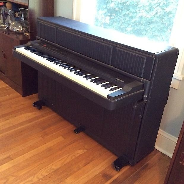 yamaha cp 60 upright electric grand piano 1986 black mij reverb. Black Bedroom Furniture Sets. Home Design Ideas
