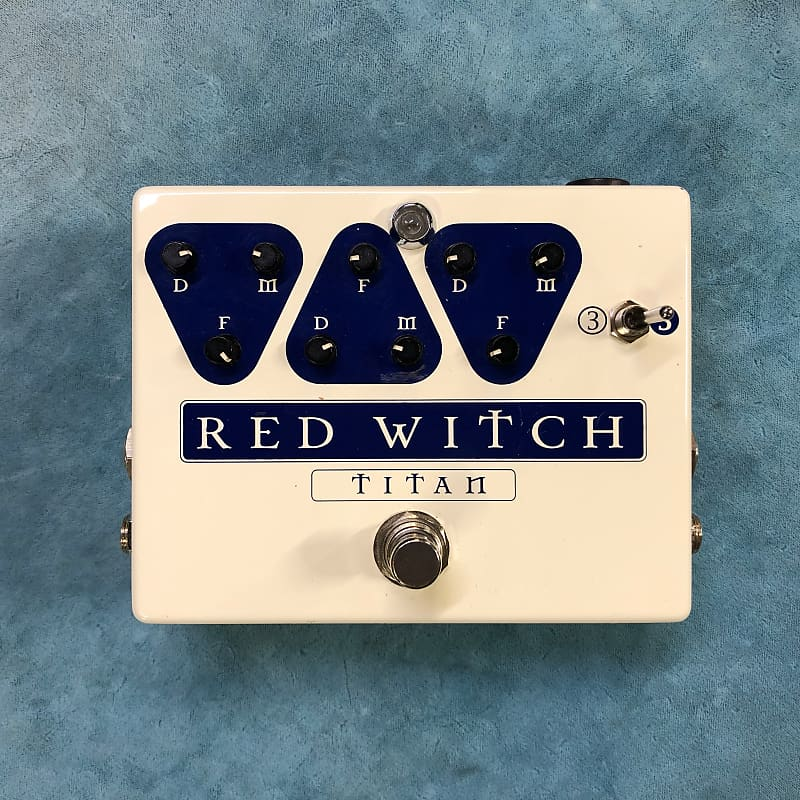 Red Witch Titan Delay Effects Pedal