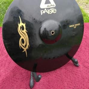 """Paiste 18"""" Black Alpha Slipknot Edition Rock Crash Cymbal"""