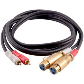 Seismic Audio SA-DRCXLF6 Premium Dual XLR Female to Dual RCA Male Patch Cable - 6'