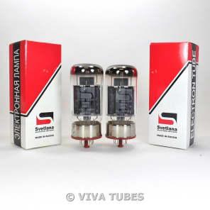 Brand New Current Matched Pair Svetlana 6550 / 6550C (KT88) Reissue Vacuum Tubes