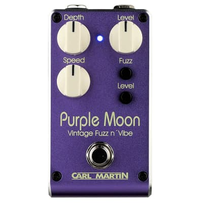 Carl Martin Purple Moon V2 2019 Version Fuzz / Vibe Guitar Effects Pedal