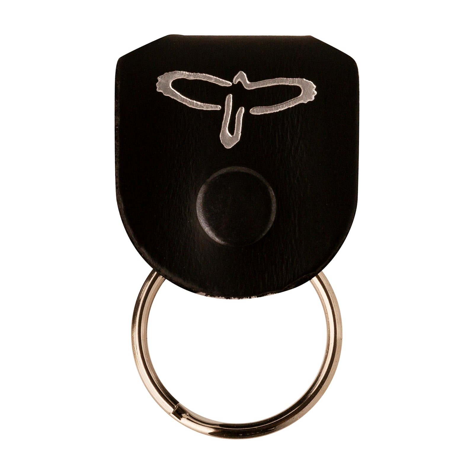 Paul Reed Smith PRS Keychain Leather Key Ring Pick Holder Black / Silver