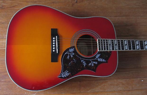 Gibson Epiphone Hummingbird Sunburst Acoustic Dreadnought
