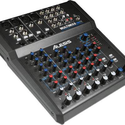 Alesis MultiMix 8 USB FX 8-Channel Mixer with Effects 2019 Black