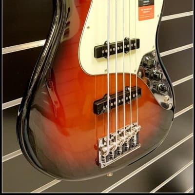 Fender Fender American Pro Jazz Bass V Rosewood, 3-Tone Sunburst for sale