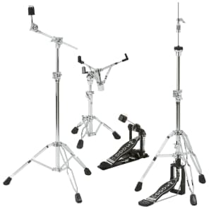 DW DWCP3000PK 3000 Series Drum Hardware Pack w/ Snare, Cymbal, Hi-Hat Stand and Single Pedal