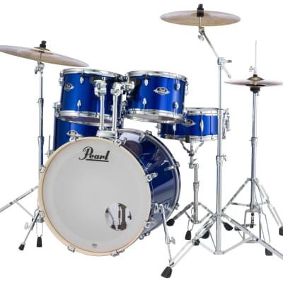 Pearl Export 5pc Drum Set 830-Series Hardware HIGH VOLTAGE BLUE EXX725S/C717