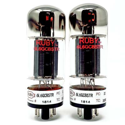 Ruby Tubes 6L6GCMSTR Quartet Matched