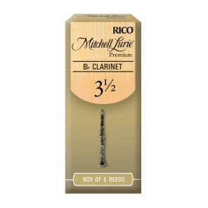Rico RMLP5BCL350 Mitchell Lurie Premium Bb Clarinet Reeds - Strength 3.5 (5-Pack)