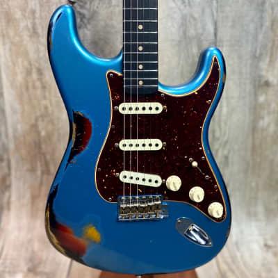 Fender Custom Shop 2020 NAMM Limited Edition Roasted Poblano Strat Heavy Relic Faded Aged Lake Placid Blue/3TSB w/case