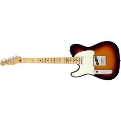 Fender Player Telecaster Left-Handed Electric Guitar, 22 Frets, Modern  C  Shape Maple Neck, Maple Fingerboard, Gloss Polyester, 3-Color Sunburst