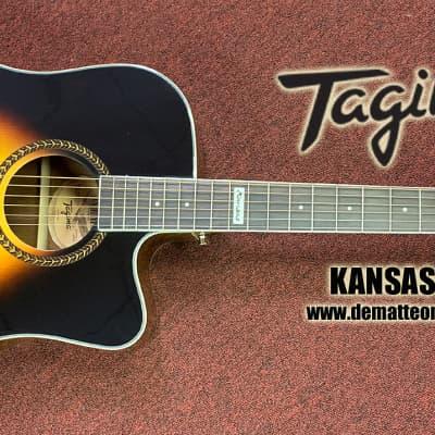 Tagima KANSAS-TSB 6-String Acoustic Electric Guitar Sunburst for sale