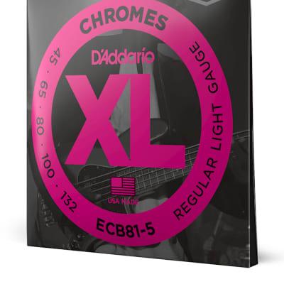 D'Addario ECB81-5 Chromes Bass 45-132