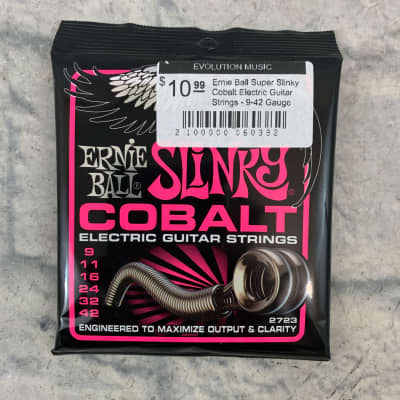 Ernie Ball EB2723 Super Slinky Cobalt Electric Guitar Strings 9 - 42