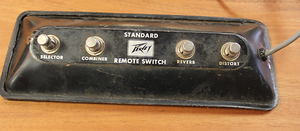 vintage peavey standard remote footswitch 4 button 6 pin midi reverb. Black Bedroom Furniture Sets. Home Design Ideas
