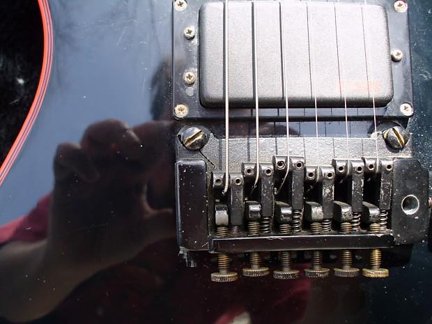 washburn bbr a 20v electric guitar 1984 mij black black red reverb. Black Bedroom Furniture Sets. Home Design Ideas
