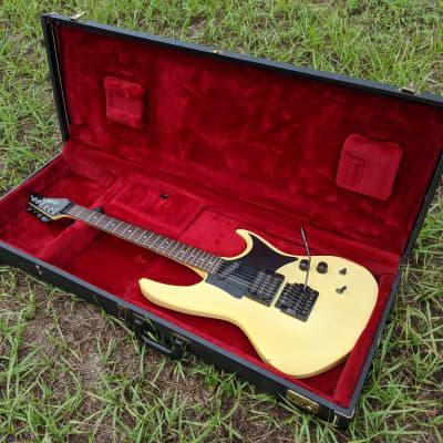 1984 Hamer USA Phantom Electric Guitar, Aged White, With Original Trem Arm & Hard Case, Plays EXC+ for sale