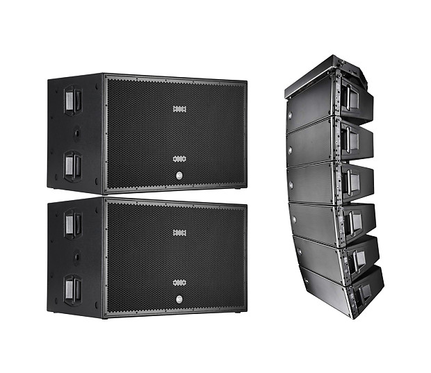 6x RCF HDL 20-A Active Line Array 1400W + 2x SUB 8006-AS Dual 18